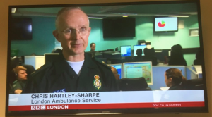 Chris Hartley-Sharpe (London Ambulance Service) explaining the system